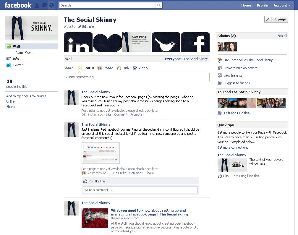 The Social Skinny Facebook Page