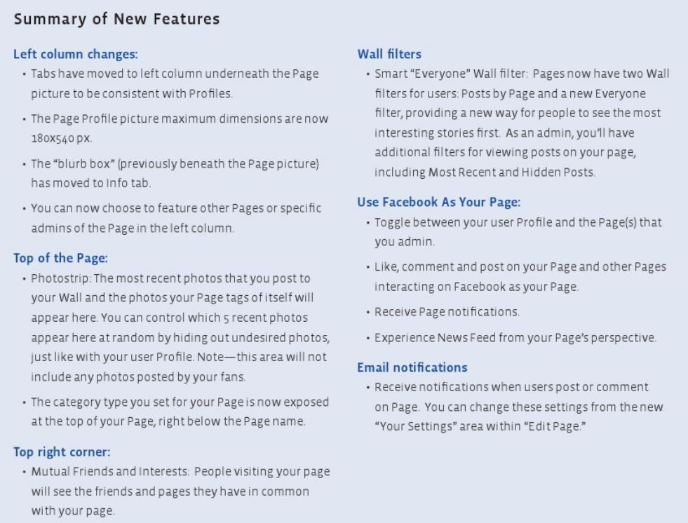 The Skinny on the New Facebook Page Layout | The Social Skinny